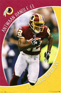 "Antwaan Randle El ""Breakout"" Washington Redskins NFL Action Poster - Costacos 2006"