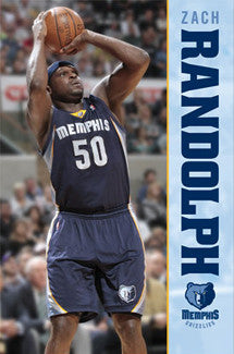 "Zach Randolph ""Superstar"" Memphis Grizzlies Action Poster - Costacos"