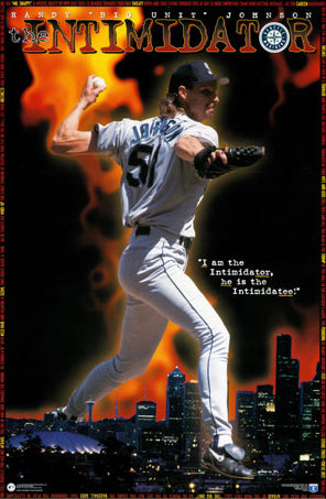 "Randy Johnson ""The Intimidator"" Seattle Mariners MLB Action Poster- Costacos Brothers 1996"