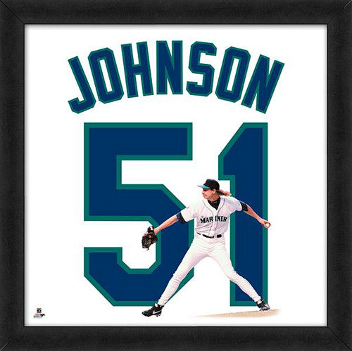 "Randy Johnson ""Number 51"" Seattle Mariners MLB FRAMED 20x20 UNIFRAME PRINT - Photofile"