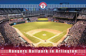 "Rangers Ballpark in Arlington ""Texas Rangers Game Night"" Poster - Costacos Sports"