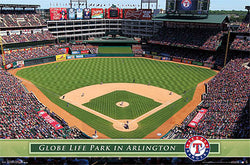 Globe Life Park Texas Rangers Gameday Official MLB Stadium Wall Poster - Costacos Sports