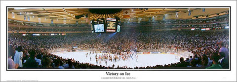 "New York Rangers ""Victory On Ice"" 1994 Stanley Cup Panoramic Poster Print - Everlasting"