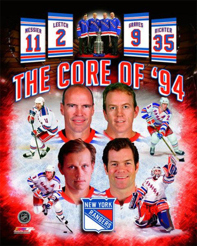 "New York Rangers ""The Core of 1994"" Premium Poster Print - Photofile 16x20"