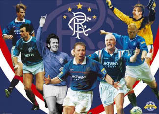 "Glasgow Rangers ""Legends"" Commemorative Soccer Poster - GB Posters"