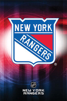 New York Rangers Official NHL Logo Poster - Costacos