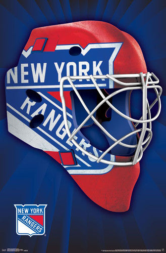 "New York Rangers ""Mask"" NHL Hockey Official Team Logo Theme Wall POSTER - Trends 2016"
