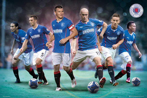 "Glasgow Rangers ""Six Stars"" 2013-14 Soccer Action Poster - GB Eye (UK)"