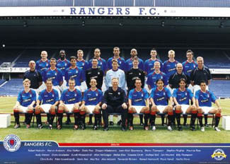 Glasgow Rangers Official Team Poster 2004/05 - GB Posters