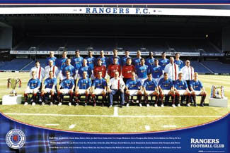 Glasgow Rangers Official Team Poster 2005/06 - GB Posters