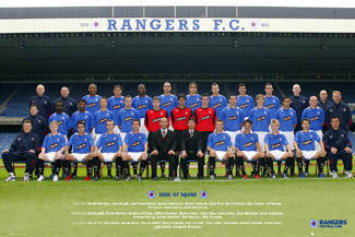 Glasgow Rangers Official Team Poster 2006/07 - GB Posters