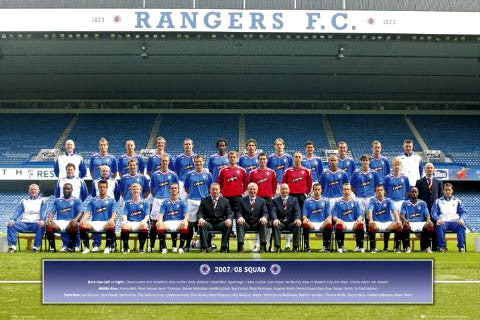 Glasgow Rangers Official Team Poster 2007/2008 - GB Posters