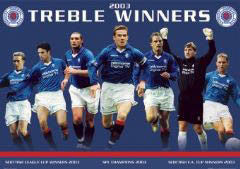 "Glasgow Rangers ""Treble Winners 2003"" - GB Posters"