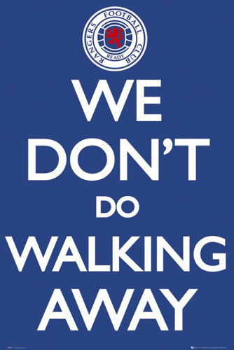 "Glasgow Rangers ""We Don't Do Walking Away"" SPL Team Crest Logo Poster - GB Eye (UK)"