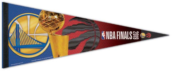 Toronto Raptors vs. Golden State Warriors 2019 NBA Finals Official Premium Felt Commemorative Pennant - Wincraft Inc.
