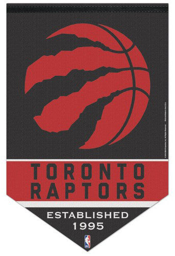 "Toronto Raptors ""Est. 1995"" Official NBA Basketball Team Premium Felt Wall Banner - Wincraft"