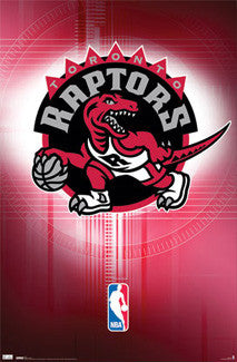 Toronto Raptors Official NBA Logo Poster (2008-2015 Style) - Costacos Sports