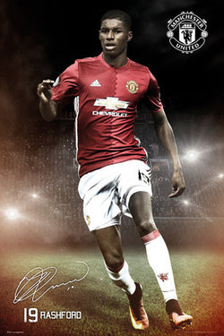 "Marcus Rashford ""Signature Series"" Manchester United FC Official EPL Poster - GB Eye 2016/17"