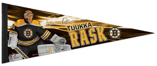 "Tuukka Rask ""Signature"" Boston Bruins Premium Felt Collector's Pennant - Wincraft 2013"