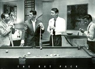"The Rat Pack ""Eight-Ball"" Classic Black-and-White Billiards Pool Poster - WCI Posters"
