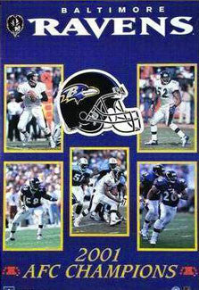 Baltimore Ravens 2001 AFC Champions Commemorative Collage Poster - Starline Inc.