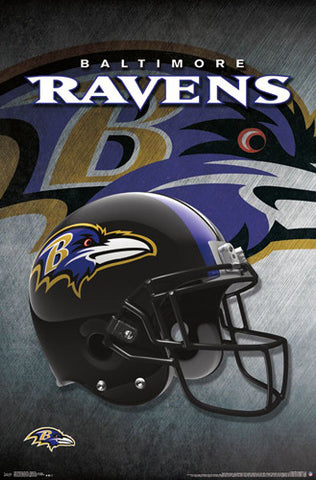 Baltimore Ravens Official NFL Football Team Helmet Logo Poster - Trends International