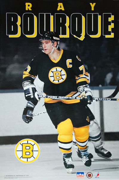 "Ray Bourque ""Spotlight"" Boston Bruins NHL Hockey Action Poster - Starline 1991"