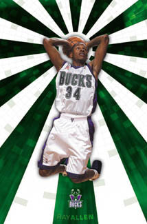 "Ray Allen ""Shine"" Milwaukee Bucks Poster - Costacos 2002"
