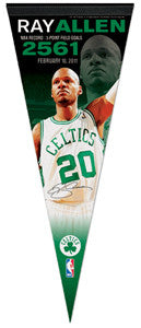 "Ray Allen ""2561"" 3-Point Record Commemorative Pennant (LE /500) - Wincraft Inc."