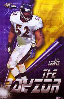 "Ray Lewis ""The Rayzor"" Baltimore Ravens Poster - Starline 2001"