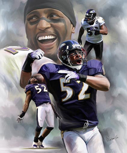 "Ray Lewis ""Ravenous"" Baltimore Ravens Commemorative Poster Print - Wishum Gregory"