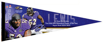 Ray Lewis Baltimore Ravens Career Commemorative Premium Felt Pennant - Wincraft 2013