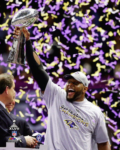 "Ray Lewis ""Capstone Moment"" Super Bowl XLVII Premium Poster Print - Photofile"