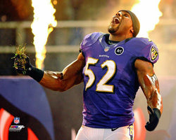"Ray Lewis ""On Fire"" (Home Field Entrance Ritual) Baltimore Ravens Premium Poster Print - Photofile"