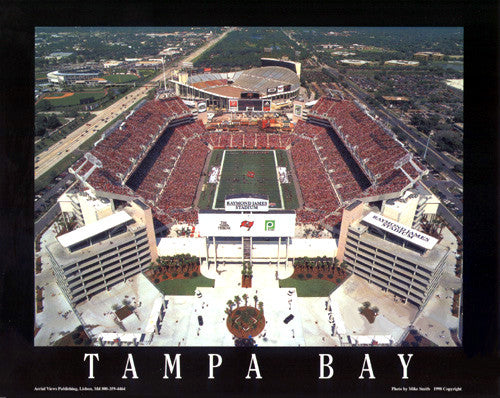 "Tampa Bay Bucs Raymond James Stadium ""From Above"" Premium Poster Print - Aerial Views"
