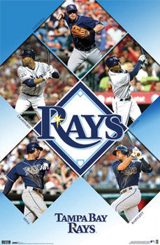 "Tampa Bay Rays ""Five-Stars"" (2010) MLB Action Poster - Costacos Sports"
