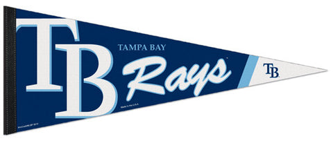 Tampa Bay Rays Official MLB Team Logo Premium Felt Collector's Pennant - Wincraft