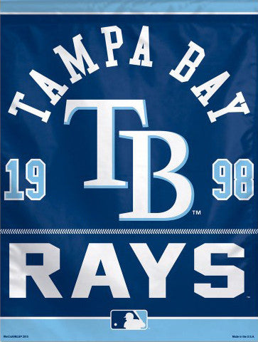 "Tampa Bay Rays Baseball ""1998"" Premium Collector's Wall Banner - Wincraft Inc."