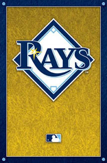 Tampa Bay Rays Baseball Official Logo Poster - Costacos