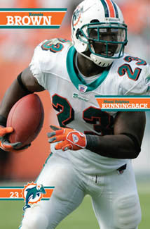Ronnie Brown Miami Dolphins NFL Superstar Action Poster - Costacos 2006