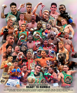 "Boxing Superstars ""Ready to Rumble"" (29 Champions and Contenders) Premium Poster Print - Wishum Gregory 2020"