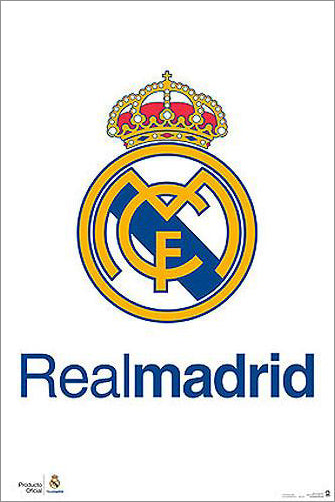 Real Madrid CF Official La Liga Team Crest Logo Poster - G.E. (Spain)