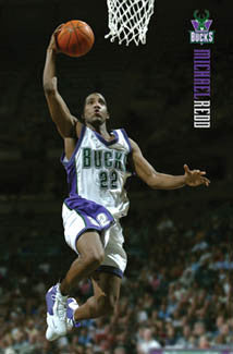 "Michael Redd ""Action"" Milwaukee Bucks Poster - Costacos 2005"