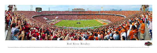 Red River Rivalry Gameday Cotton Bowl Panoramic Poster Print - Blakeway 2012