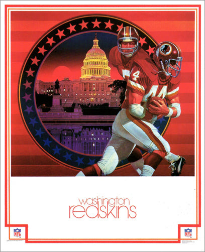 Washington Redskins 1979 NFL Theme Art Poster by Chuck Ren - DAMAC Inc.