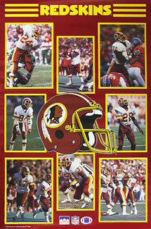Washington Redskins 1988 Superstars NFL Action Poster (Green, Manley, Clark ++) - Starline Inc.