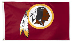 Washington Redskins Official NFL Football 3'x5' DELUXE-EDITION Flag - Wincraft Inc.