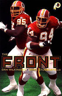 "Washington Redskins ""The Front"" (Wilkinson, Stubblefield) Poster - Costacos 1998"