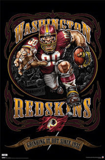 "Washington Redskins ""Grinding it Out Since 1932"" NFL Team Theme Poster - Costacos"