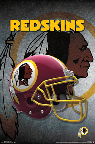 Washington Redskins Official NFL Football Team Helmet Logo Poster - Trends International